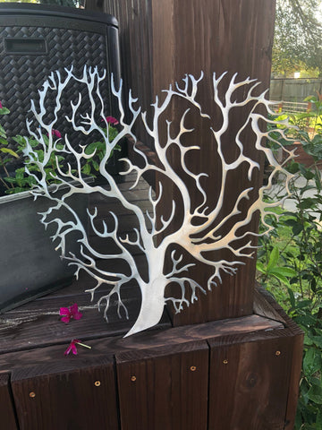 Heart Tree Of Life Metal Art - Metal Wall Decor
