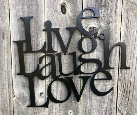 Live Laugh Love Word Art - Metal Wall Decor