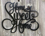 Home Sweet Home Word Art - Metal Wall Decor