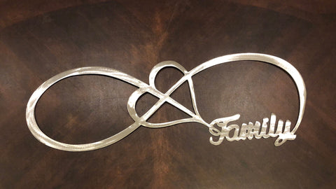 Infinity Family - Metal Wall Decor