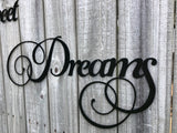 Sweet Dreams Metal Art - Word Art - Metal Wall Decor