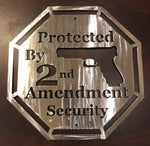 Protected By 2nd Amendment - Metal Art - Metal Decor