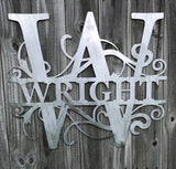 Metal Monogram Sign Wall Decor