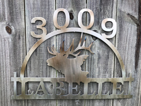 House Number, Metal Monogram, Monogram Sign, Metal Monogram