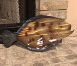 Flounder Metal Art, Metal Wall Decor