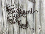 Love is Patient - Love is Kind - Metal Wall Decor