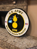 Army Wheeled Vehicle Repairer - Metal Wall Decor