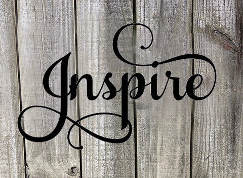 Inspire Word Art - Metal Wall Decor