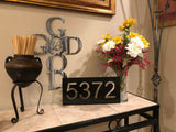 House Number Sign - Metal Wall Decor