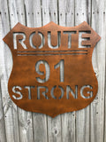 Route 91 Strong, Metal Art, Metal Wall Art, Home Decor, Metal Decor