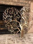 "32"" Gold Heart Tree Of Life"