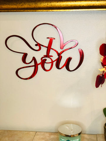 I Love You Sign - Metal Wall Decor