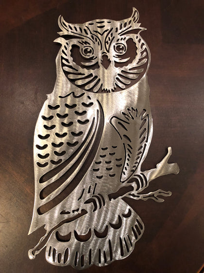 Owl Metal Art - Metal Wall Decor