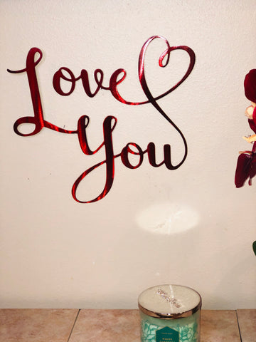Love You wall Sign - Metal Wall Decor