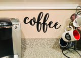 Coffee Metal Word Art - Metal Wall Decor