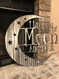 Love You to the Moon and Back - Metal Wall Decor