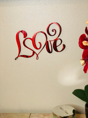 Fancy Love Sign - Metal Wall Decor