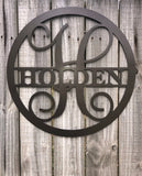 Personalized Metal Monogram Sign Wall Decor