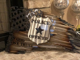Distressed Battle Flag - Police