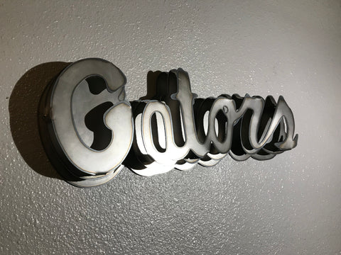 3D Florida Gators Logo Metal Wall Decor