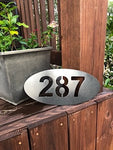 House Number Plaque - Metal Wall Decor
