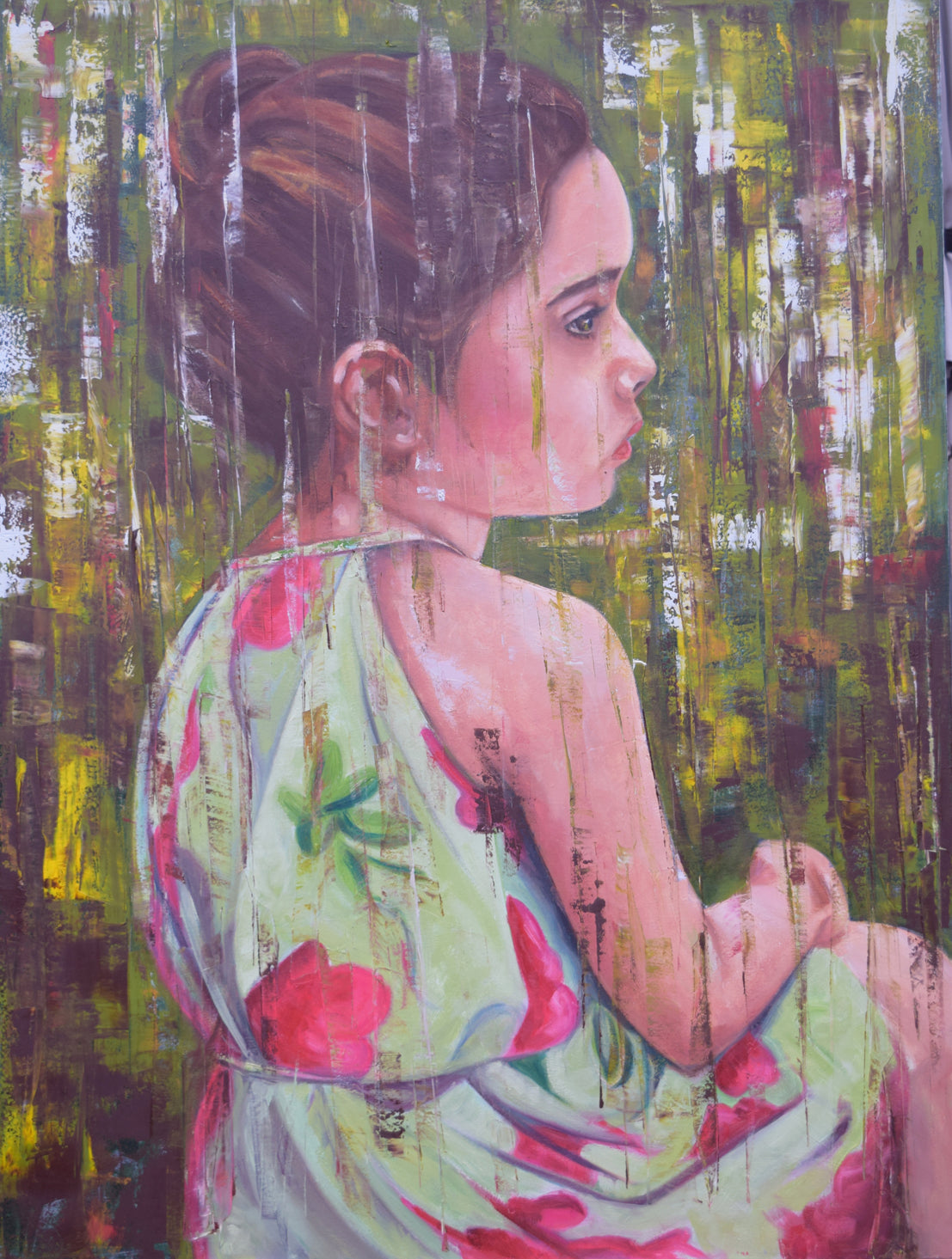 Sophie in Green 36 x 48""