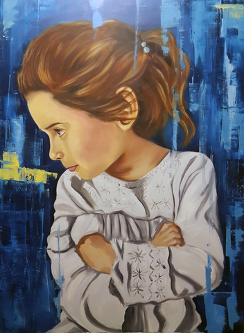 Sophie in Blue 36 x 48""