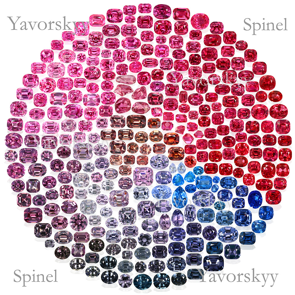 Spinel colors All colors of Spinel Yavorskyy Red Spinel Blue spinel Pink Spinel Grey Spinel Lilac spinel Jedi spinel Natural Spinel