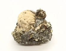 Load image into Gallery viewer, Pyrite, Barite, & Quartz from Peru 102g approximately 1 1/2in. FREE SHIPPING
