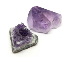 Load image into Gallery viewer, Amethyst Crystal & Cluster Set (2pcs) 103g Total FREE SHIPPING