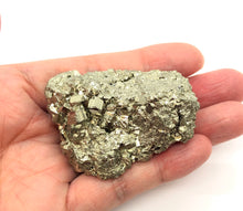Load image into Gallery viewer, Pyrite Crystal Cluster from Peru 90g Approximately 2in.