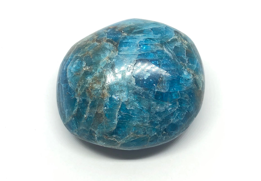 Blue Apatite Palm Stone from Madagascar 92g FREE SHIPPING
