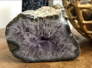 Amethyst Crystal Geode from Uruguay 1.9lbs FREE SHIPPING