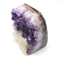 Load image into Gallery viewer, Amethyst With Calcite Crystal Cluster 157g over 2in FREE SHIPPING