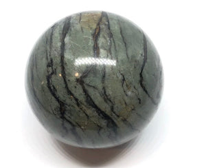 Zebra Calcite Sphere from Madagascar 70mm 1.02lbs FREE SHIPPING