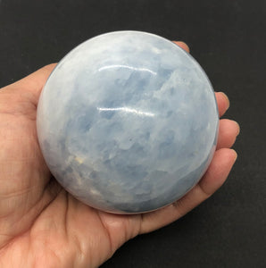Blue Calcite Sphere from Madagascar 1.11lbs
