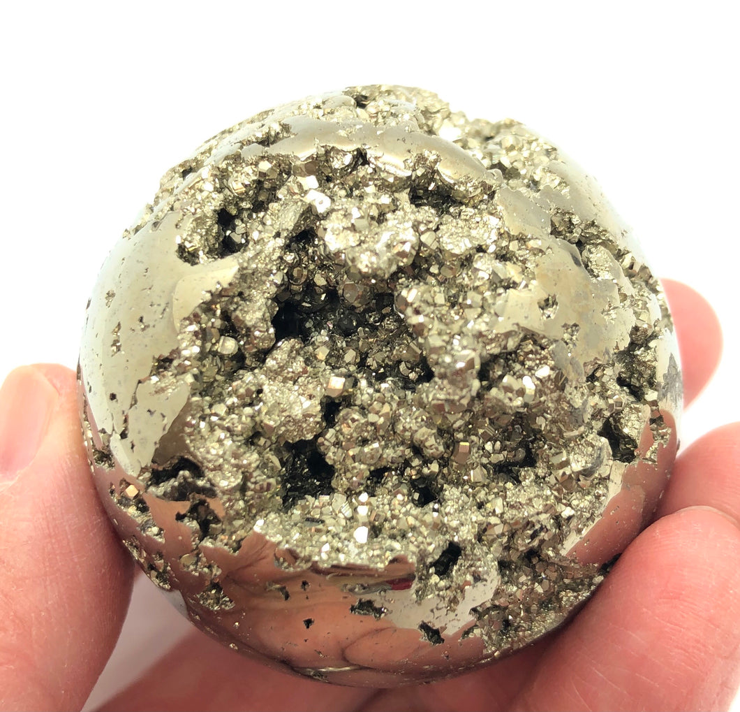 Pyrite Sphere Emotional Well Being,Positive Energy,250g 50mm 2in Peru