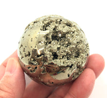 Load image into Gallery viewer, Pyrite Sphere Emotional Well Being,Positive Energy,250g 50mm 2in Peru