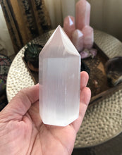 Load image into Gallery viewer, Selenite Crystal Point from Morocco 253g Approximately 4in FREE SHIPPING
