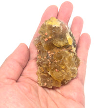 Load image into Gallery viewer, Genuine Yellow Fluorite from Morocco 131g 2 1/2in FREE SHIPPING - Higher Vibe Crystals