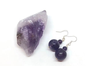 Amethyst Crystal & Handmade Earrings Set FREE SHIPPING