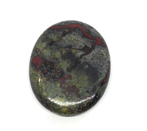 Dragons Blood Jasper Palm Stone 37g Approximately 2in FREE SHIPPING