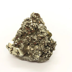 Pyrite Crystal Cluster from Peru 128g over 2in.