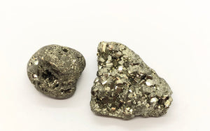 Pyrite Crystal Cluster & Tumbled Set from Peru 56g total