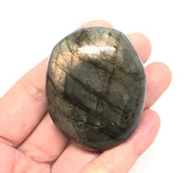 Load image into Gallery viewer, Labradorite Palm Stones from Madagascar 4pcs 211g FREE SHIPPING