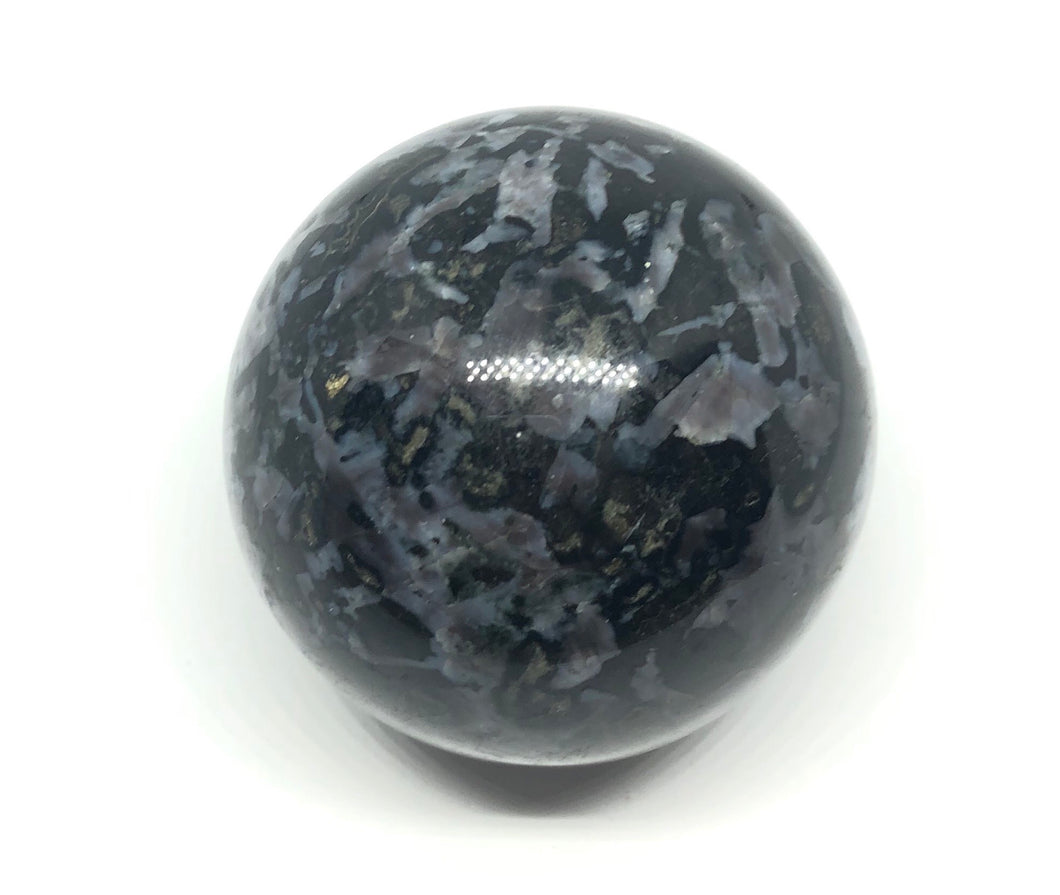 Gabbro Mystic Merlinite Sphere from Madagascar 50mm 2inches 215g FREE SHIPPING