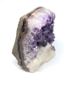 Amethyst With Calcite Crystal Cluster 157g over 2in FREE SHIPPING
