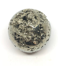 Load image into Gallery viewer, Pyrite Sphere Emotional Well Being,Positive Energy,250g 50mm 2in Peru - Higher Vibe Crystals