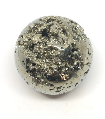 Pyrite Sphere Emotional Well Being,Positive Energy,250g 50mm 2in Peru - Higher Vibe Crystals