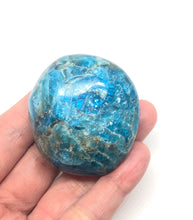 Load image into Gallery viewer, Blue Apatite Palm Stone from Madagascar 92g FREE SHIPPING